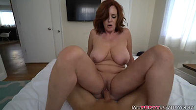 Your milf fucks you around the house